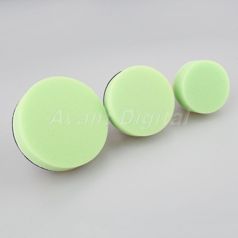 """12pcs 3/""""//4/""""//5/""""inch Buffing Waxing Pads With M10 Drill For Car Polishing Cleaning"""