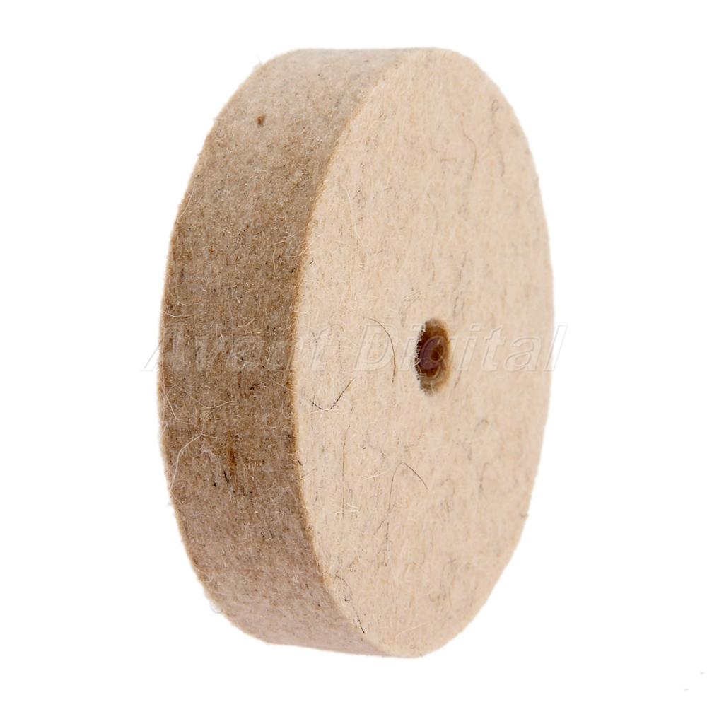 "1Pc Durable 3/"" Inch Round Polishing Wheel Felt Wool Buffing Polishers Pad Buffer"