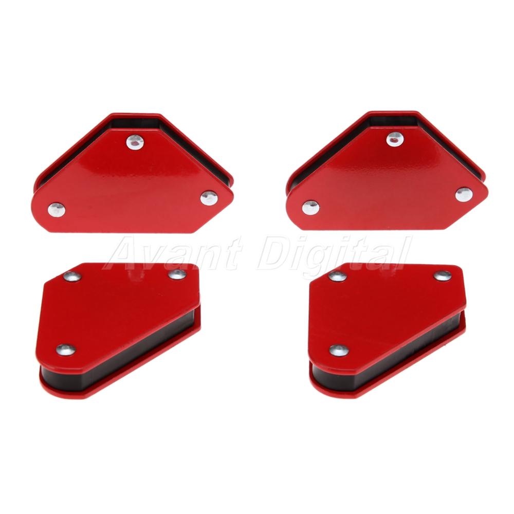 4PCS Welding Magnetic Square Welder Holder Arrow Clamp 2019 9Lb 135° 90° T9S1