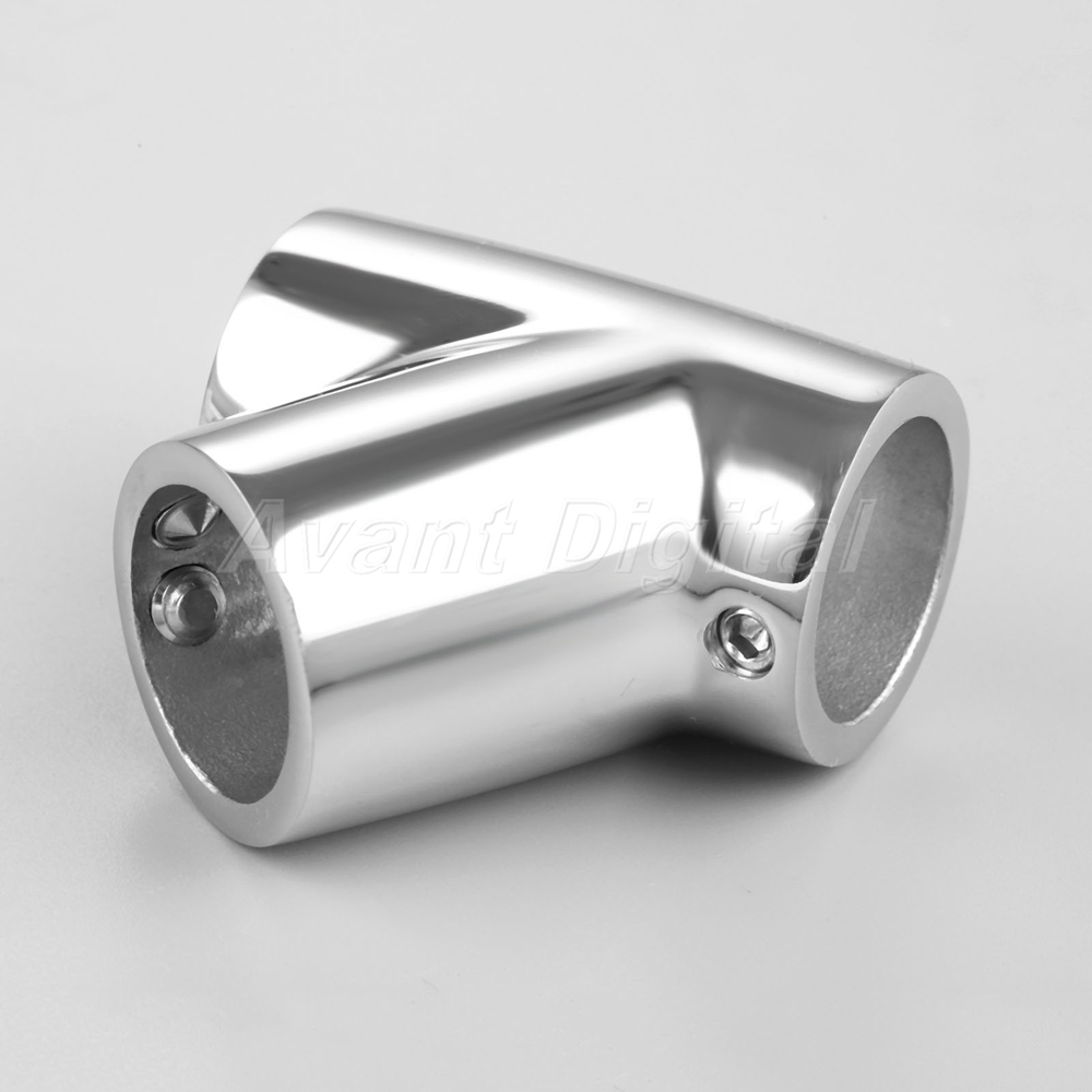 "Boat Hand Rail 60 Degree Tee Fit 7//8/"" 22mm Tube Pipe 316 marine stainless steel"