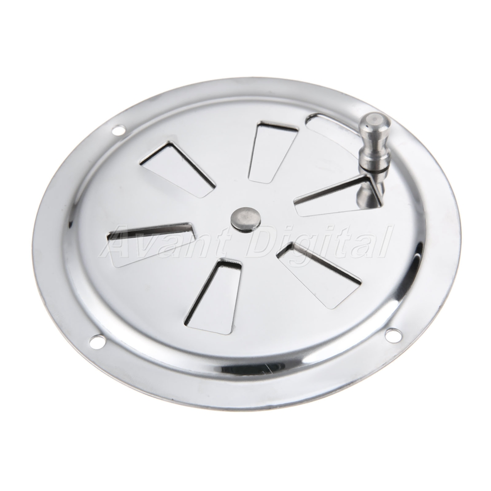 Marine Air Vent Stainless Steel Butterfly Boat Round Louvered Vent 4/'/'