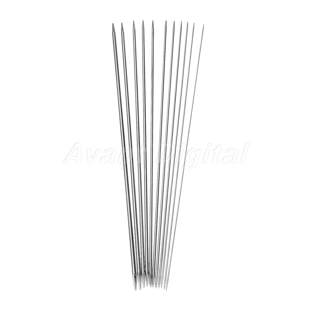 4X stainless steel knitting needles double pointed hook weaving crochet needles