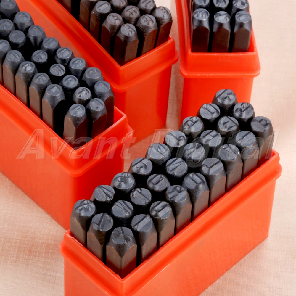 1 Set Stamps Alphabet Letters Numbers Set Punch A to Z Die 0 to 9 Die Craft Tool